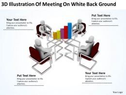 3D Illustration Of Meeting On White Background Ppt Graphics Icons