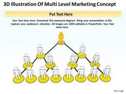 3D Illustration Of Multi Level Marketing Concept Ppt Graphics Icons