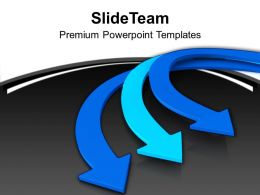 3d Illustration Of Parallel Arrows Business Concept Powerpoint Templates Ppt Themes And Graphics 0113