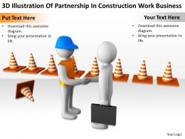3D Illustration Of Partnership In Construction Work Business Ppt Graphics Icons Powerpoin