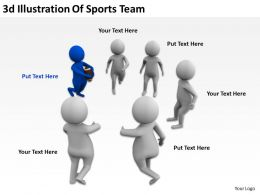 3D Illustration Of Sports Team Ppt Graphics Icons