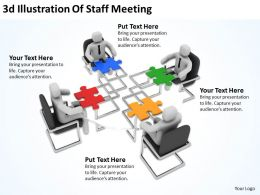3D Illustration Of Staff Meeting Ppt Graphics Icons