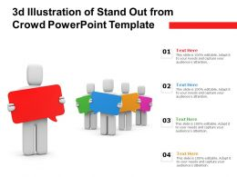 3d Illustration Of Stand Out From Crowd Powerpoint Template