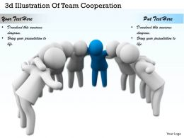 3d Illustration Of Team Cooperation Ppt Graphics Icons Powerpoint