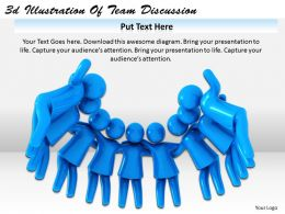 3d Illustration Of Team Discussion Ppt Graphics Icons Powerpoint