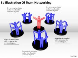 3d Illustration Of Team Networking Ppt Graphics Icons Powerpoint