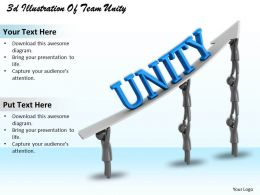 3d Illustration Of Team Unity Ppt Graphics Icons Powerpoint