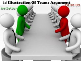3d Illustration Of Teams Argument Ppt Graphics Icons Powerpoint