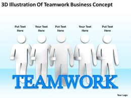 3D Illustration Of Teamwork Business Concept Ppt Graphic Icon