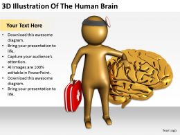 3D Illustration Of The Human Brain Ppt Graphics Icons PowerPoint