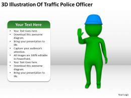 3D Illustration Of Traffic Police Officer Ppt Graphics Icons Powerpoint