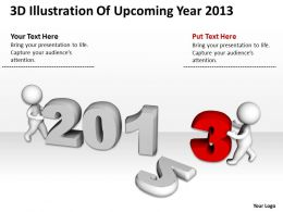 3D Illustration Of Upcoming Year 2013 Ppt Graphics Icons