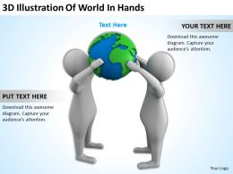 3D Illustration Of World In Hands Ppt Graphics Icons
