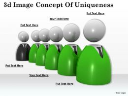 3d Image Concept Of Uniqueness Ppt Graphics Icons Powerpoint