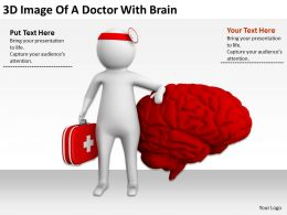 3D Image Of A Doctor With Brain Ppt Graphics Icons Powerpoint