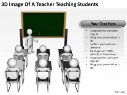 3D Image Of A Teacher Teaching Students Ppt Graphics Icons Powerpoint