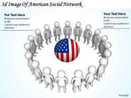 3d Image Of American Social Network Ppt Graphics Icons Powerpoint