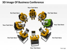3D Image Of Business Conferance Ppt Graphics Icons Powerpoint