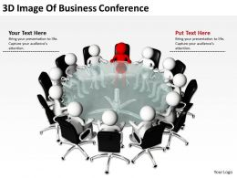 3D Image Of Business Conference Ppt Graphics Icons Powerpoint