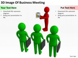 3D Image Of Business Meeting Ppt Graphics Icons Powerpoint