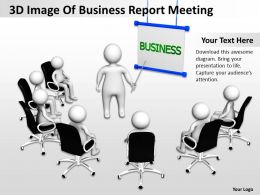 3D Image Of Business Report Meeting Ppt Graphics Icons
