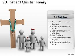 3d Image Of Christian Family Ppt Graphics Icons Powerpoint