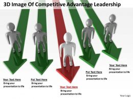 3D Image Of Competitive Advantage Leadership Ppt Graphics Icons