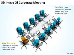 3D Image Of Corporate Meeting Ppt Graphics Icons