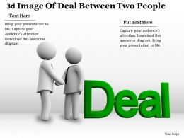 3d Image Of Deal Between Two People Ppt Graphics Icons Powerpoint