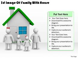 3d Image Of Family With House Ppt Graphics Icons Powerpoint