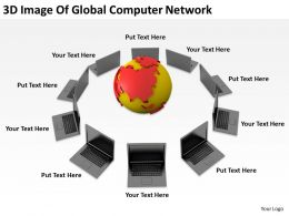 3D Image Of Global Computer Network Ppt Graphics Icons