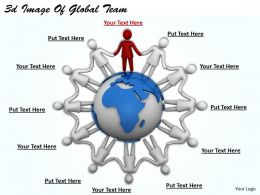 3d Image Of Global Team Ppt Graphics Icons Powerpoint