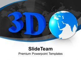 3d Image Of Globe PowerPoint Templates PPT Themes And Graphics 0213
