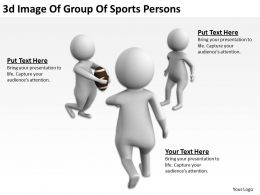 3D Image Of Group Of Sports Persons Ppt Graphics Icons