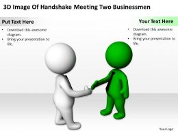 3D Image Of Handshake Meeting Two Businessmen Ppt Graphics Icons Powerpoint