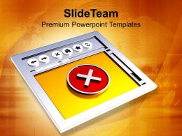 3d_image_of_internet_browser_with_cross_powerpoint_templates_ppt_themes_and_graphics_0213_Slide01