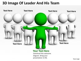 3D Image Of Leader And His Team Ppt Graphics Icons
