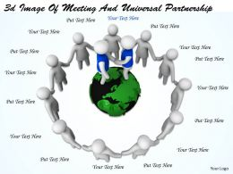 3d Image Of Meeting And Universal Partnership Ppt Graphics Icons Powerpoint