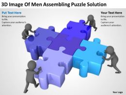 3D Image Of Men Assembling Puzzle Solution Ppt Graphics Icons Powerpoint