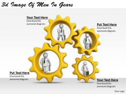 3d Image Of Men In Gears Ppt Graphics Icons Powerpoint