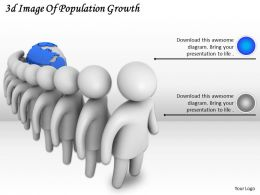 3d Image Of Population Growth Ppt Graphics Icons Powerpoint