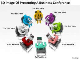 3D Image Of Presenting A Business Conference Ppt Graphics Icons