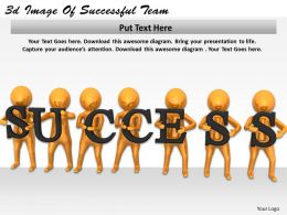3d Image Of Successful Team Ppt Graphics Icons Powerpoint