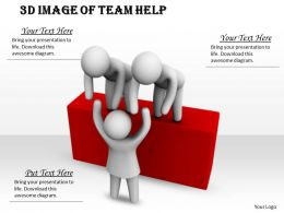 3d Image Of Team Help Ppt Graphics Icons Powerpoint