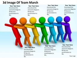 3d Image Of Team March Ppt Graphics Icons Powerpoint
