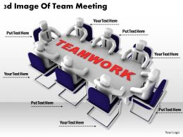 3d Image Of Team Meeting Ppt Graphics Icons Powerpoint