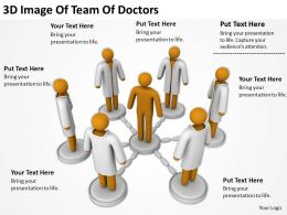 3D Image Of Team Of Doctors Ppt Graphics Icons PowerPoint