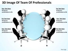 3D Image Of Team Of Professionals Ppt Graphics Icons