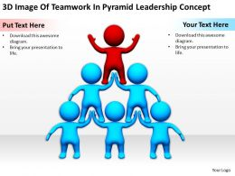 3D Image Of Teamwork In Pyramid Leadership Concept Ppt Graphics Icons Powerpoin
