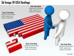 3d Image Of USA Dealings Ppt Graphics Icons Powerpoint